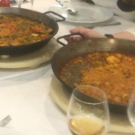 Paella Pepica y paella con verduras