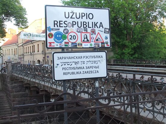 Bridge of Uzupis照片