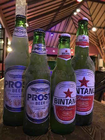 Kaliasem, Indonesia: The Coldest Beer in Town ( Bintang/Prost)for Large 30K and Small 20K and San Mig light only 25K