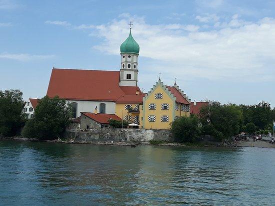 Wasserburg am Bodensee, Alemanha: Sankt Georg vom Bodensee aus