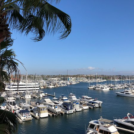 Beautiful hotel and marina view