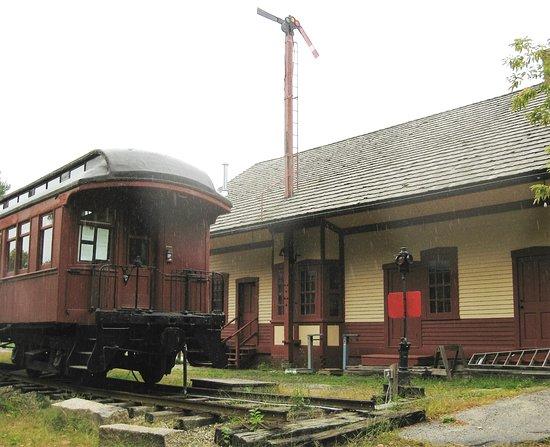 Contoocook Railroad Museum and Covered Bridge: Depot & old railroad car