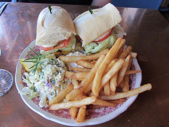 The Wheelhouse & Crowsnest: Wheelehouse - Grilled Rockfish Sandwich