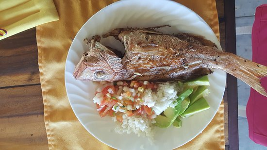 Isla Fuerte, Colombia: one of our meals