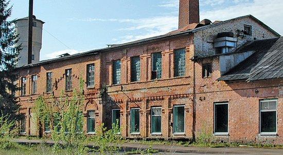 Sabile, Łotwa: The factory building