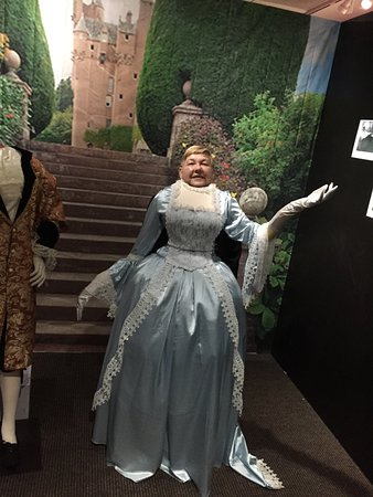 Original Costumes.Trying On Original Costumes Used In Making Oscar Winning