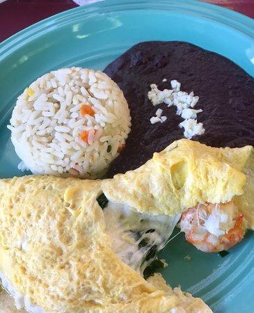 Ruben's Restaurant Isla Mujeres: Shrimp omelette