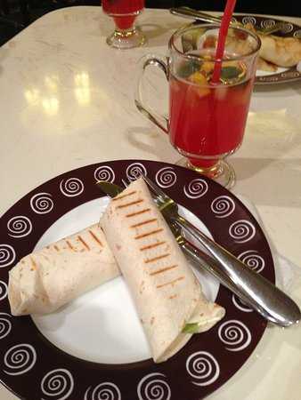 Otradnoye, Russia: Caesar roll with tea