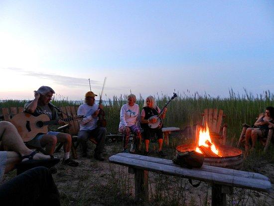 Ossineke, MI: Community fire pit.