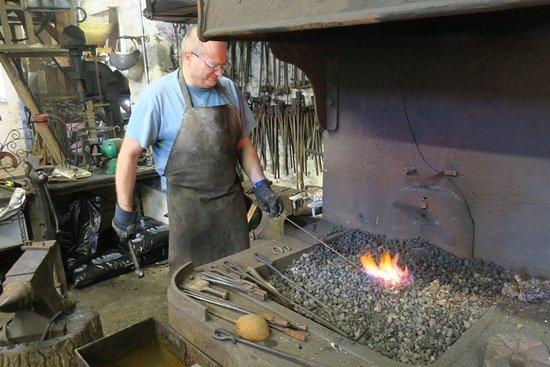 Long Hanborough, UK: Me heating some metal.