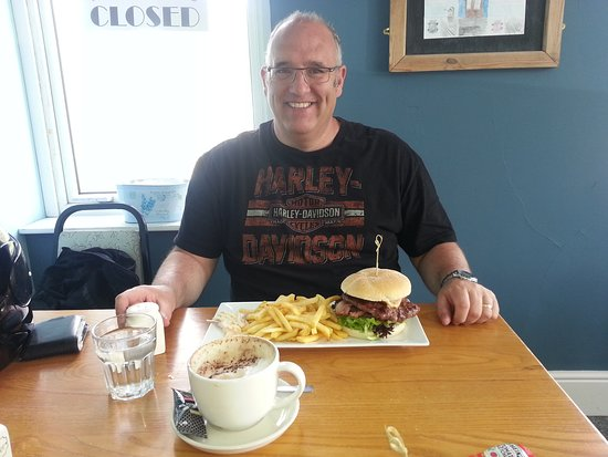 Ponterwyd, UK: A Man Vs Food challenge. The Sorry Ronnie, as good as it is large!