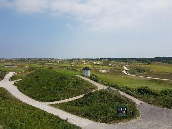 Noordwijk, Paesi Bassi: Prachtig uitzicht op de baan vanaf het terras.