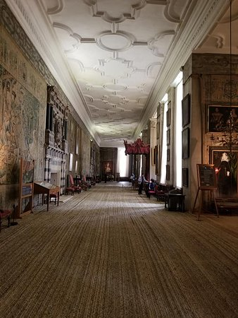 The Portrait Gallery At Hardwick Hall Picture Of Hardwick Hall And