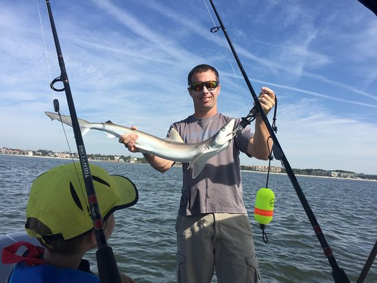 Kids Fishing Billy Bee Charters: We caught Whiting for dinner