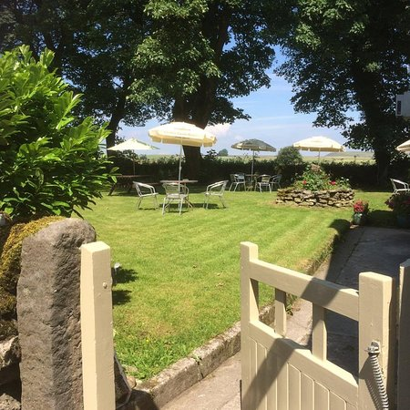 Beer Garden to the rear with views of the Peak District