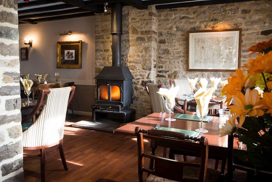 Our Dining Room with Log Fire