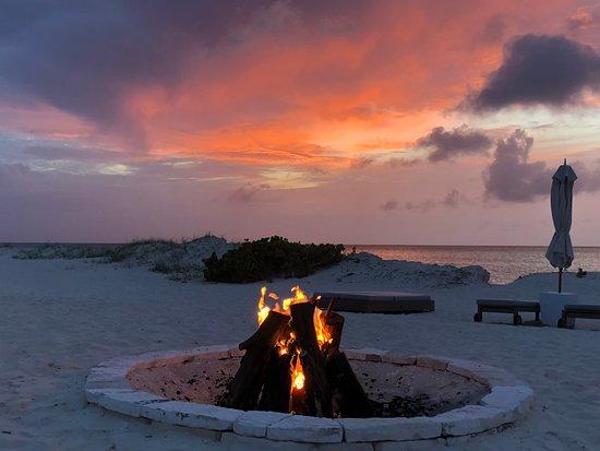 COMO Parrot Cay, Turks and Caicos: Gorgeous nightfalls.