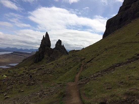 The Old Man of Storr: the view on our way down