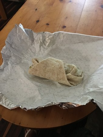 Shapleigh, Мэн: Barely filled wrap ! Think twice before I get another one
