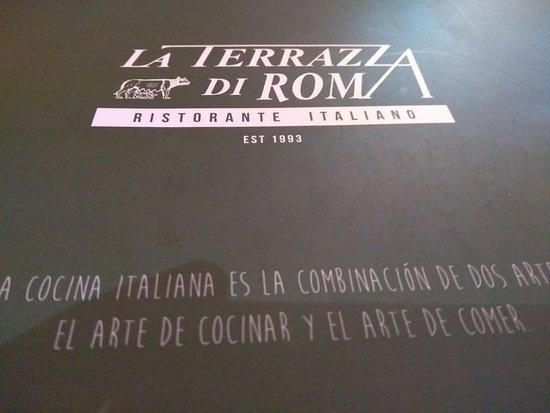 Menu Picture Of La Terrazza Di Roma Puerto Vallarta Tripadvisor