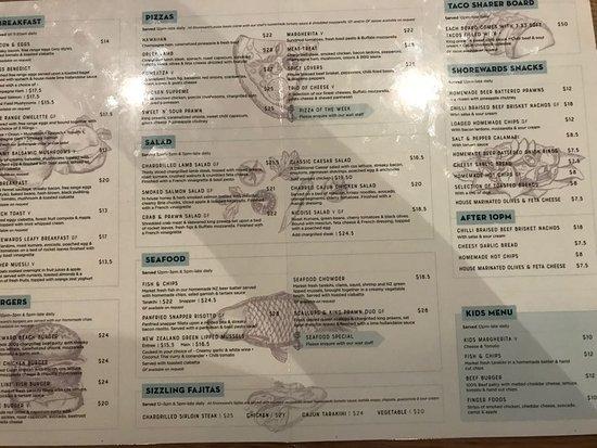 Orewa, Nueva Zelanda: menu