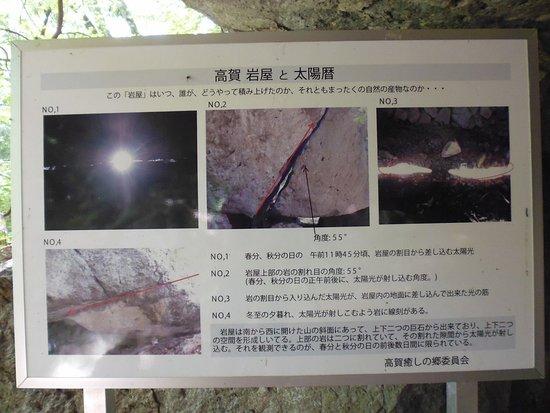 Mt. Koka: 岩屋の説明書き