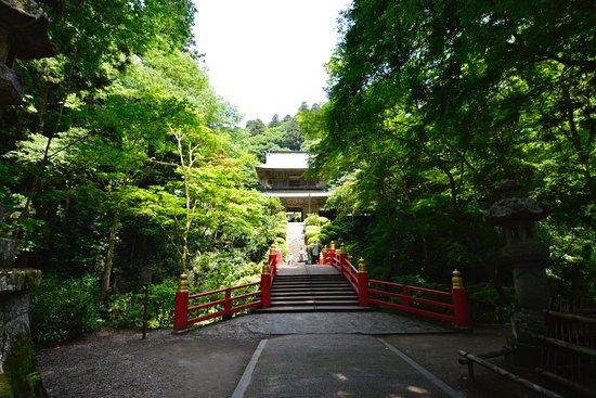 Unganji Temple: 門を入ると山門が見える