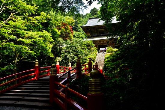 Unganji Temple: 朱塗りの橋と山門