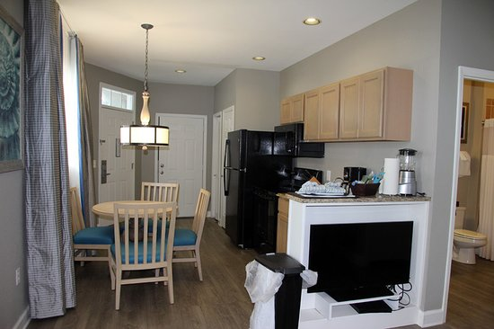 Edisto Beach, SC: from living room towards kitchen in suite