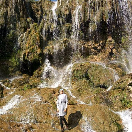 Fars Province, Iran: Experience a waterfall with a confluence of 4 different kinds of water