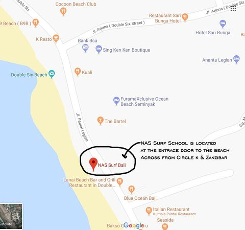 Nas Surf Bali Is On Google Map Picture Of Nas Surf Bali