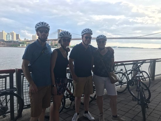 Brooklyn Giro Bike Tours: east river with the bridges in the background