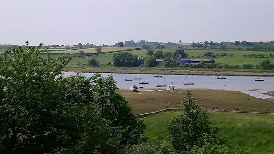 The Red Lion Inn : View from the Sun Terrace at Red Lion Alnmouth