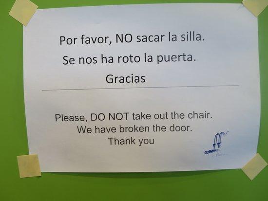 the sign at the bathroom picture of mcdonald s la palma rh tripadvisor com