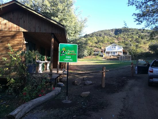 Fundo El Grillo: Campground up-valley at the side of the Clubhouse, supposedly restricted to cottages lodging.