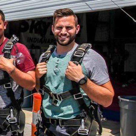 Frankfort, IN: Suited up and ready to jump!