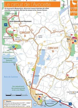 Saint-Quentin-en-Tourmont, France: Itinéraire à vélo depuis Le Crotoy