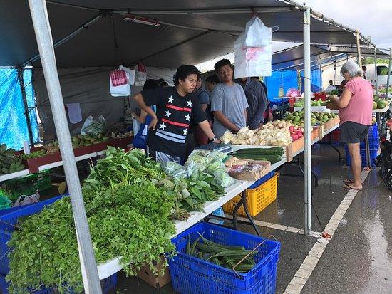 デデドの朝市, 野菜売り場
