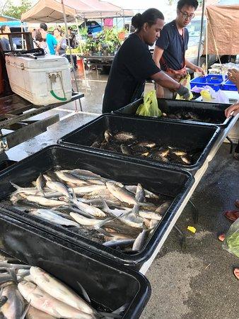デデドの朝市, 鮮魚売り場