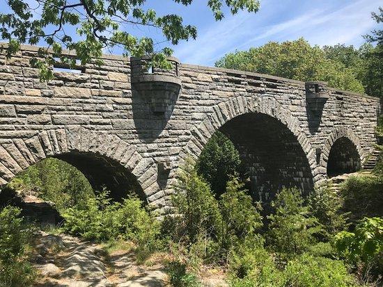 Carriage Roads: love the triple arch of Duck Bridge