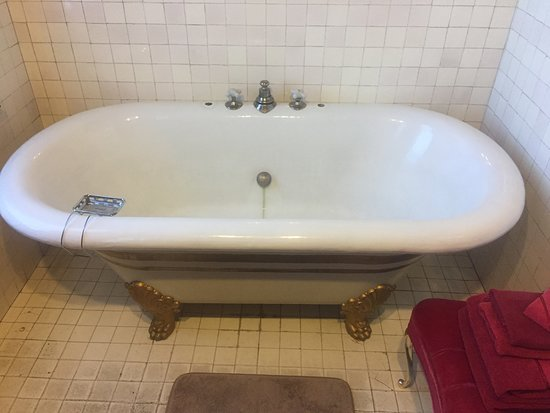 Copper King Mansion: The only bathing option - not the low, shallow spout.