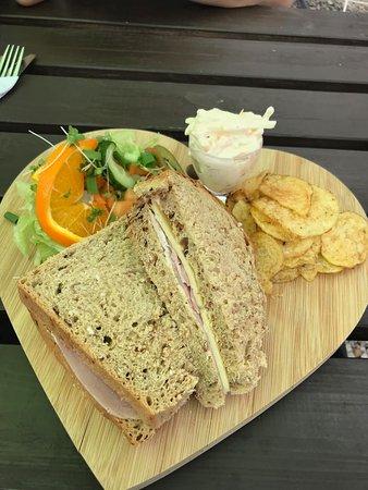Kilkhampton, UK: Ham and Cheese Sanwhich