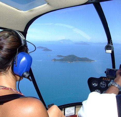Bedarra Island, Australia: Arrival by helicopter
