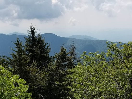 Mount Mitchell State Park: view west