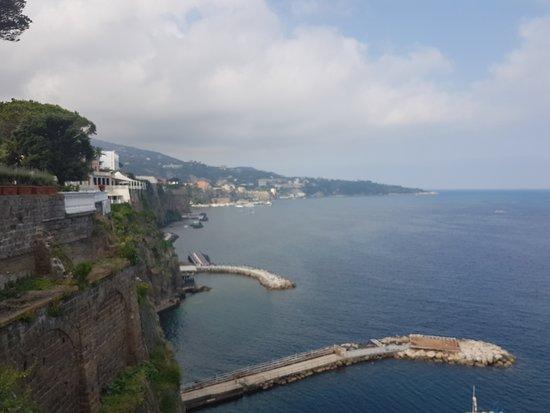 Hotel Corallo Sorrento: Looking south towards Sorrento and Almalfi Coast