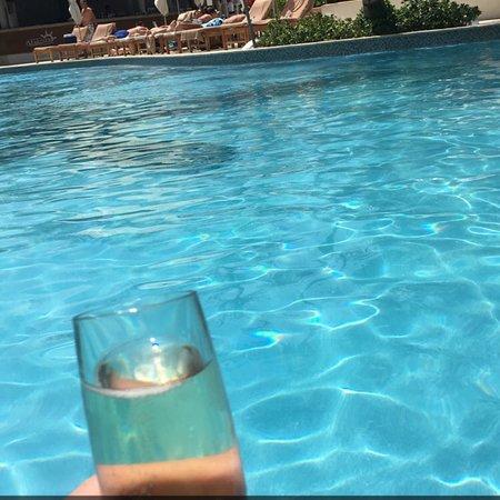 Swimup pool, quiet pool, main pool, Indian restaurant