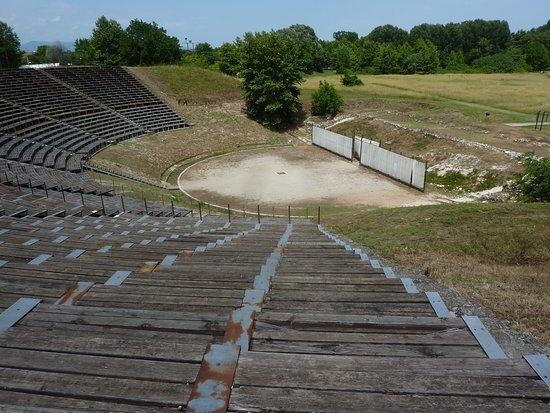 Dion Archaeological Park : Amphitheatre (restored)