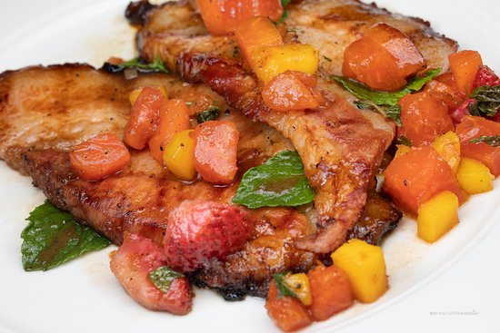 K Rico Steakhouse : Roasted Pork with Grilled Compote @ K Rico