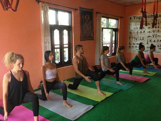 Bhagsu Nag, India: Yoga teacher training course with Raj team..