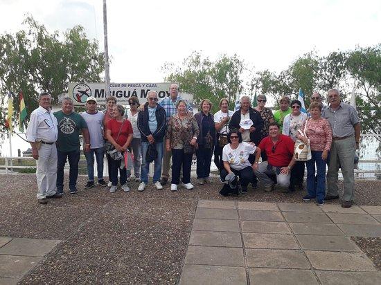 Lugar de salida en Corrientes Capital, Club de caza y Pesca Mbigua Mboy.